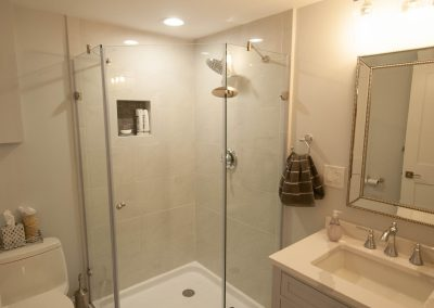 custom basement remodel auburn landing custom builder bathroom
