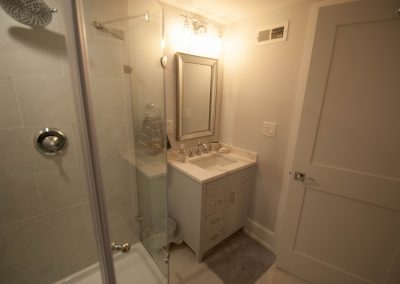 custom basement remodel auburn landing custom builder bathroom vanity