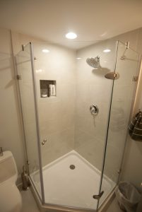 custom basement remodel auburn landing custom builder bathroom shower
