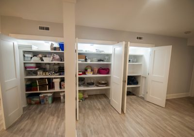 custom basement remodel auburn landing custom builder home closet