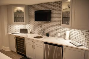 custom basement remodel auburn landing custom builder home kitchen