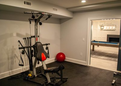 custom basement remodel auburn landing custom builder home gym