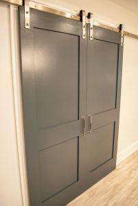 custom basement remodel auburn landing custom builder home barn doors