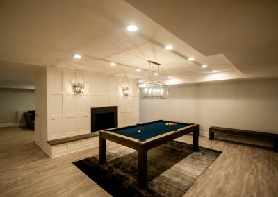 custom basement remodel auburn landing custom builder home pool table
