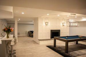custom basement remodel auburn landing custom builder home pool table