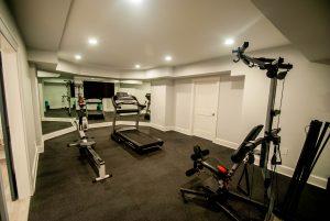 custom basement remodel auburn landing custom builder home gym