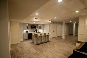 custom basement remodel auburn landing custom builder kitchen